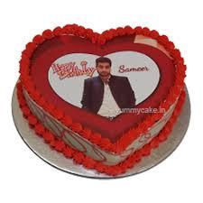 Heart Shape Photo Cake Online Beautiful Design Yummycake