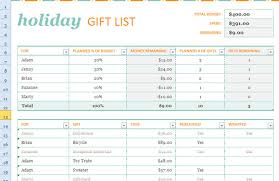 Gift Tracker Gift Tracker Template Under Fontanacountryinn Com