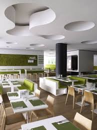 Basement Designers Fascinating Modern Fast Food Restaurant Interior Decor With Minimalist Furniture