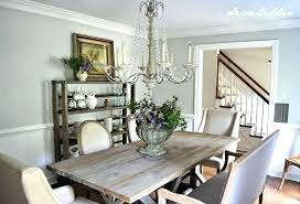 farmhouse style dining room table farm our updated with a new and rolling shelves dear studio