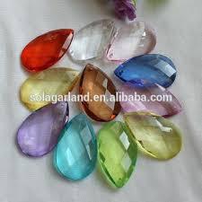 acrylic teardrop bead charm acrylic transpa faceted teardrop beads plastic pendant charm for curtain chandelier prism