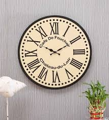 white wood wall clock by artisans rose