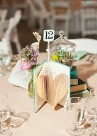 diy folded heartbook vine wedding centerpieces