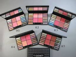 mac pro makeup fashion makeup kit 14 colors eyeshadow 4 blusher