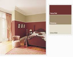 Dulux Red Paint Bedroom