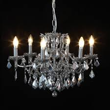 crystal chrome shallow antique french style chandelier