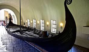 norway the oseberg ship at the viking ship museum in oslo