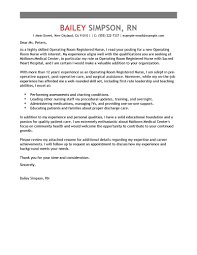 Best Operating Room Registered Nurse Cover Letter Examples
