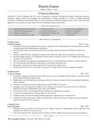 Resume Templates It Manager Formidable Objective Examples Summary