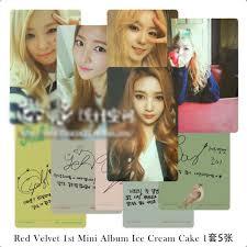 Po Red Velvet Ice Cream Cake Replica Photocards Entertainment K