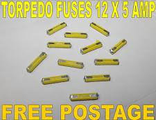 old fuse 12 pack old style bullet fuses 5 amp ceramic torpedo continental fuse