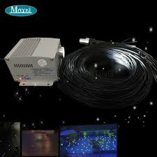 Fiber Optic Light Projector Us 180 95 30 Off Maykit Deck And Patio Fiber Optics With White Cree Led Twinkle Color Wheel Light Projector And 1 5mm Fiber With Black Pvc Jacket In