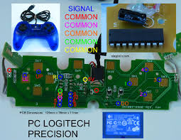 joystick controller pcb and wiring pc logitech precision