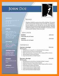 Resume Format In Word 2007 Resume Template Download For Microsoft Word 2007 2yv Net