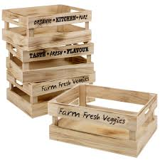 Wooden Crate With Handles Wooden Veg Box Ebay