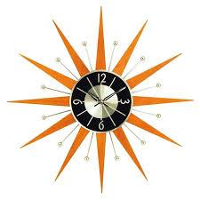 appealing vintage syroco starburst sunburst wall clock n9262926 starburst wall clock