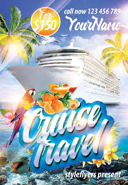 Cruise Travel Psd Flyer Template Travel Flyers Psd Flyer