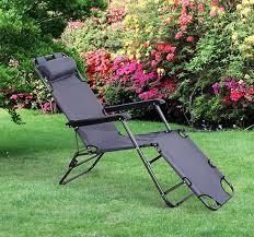 outsunny folding lounge chair chaise portable recliner sun lounger outdoor garden patio grey