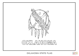 Small Picture Flag of Oklahoma coloring page Free Printable Coloring Pages