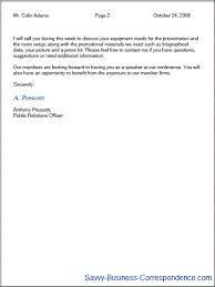 Multiple page business letter, second page with properly formatted header.