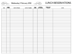Table Reservation Template Cow Calf Operation Spreadsheet New Restaurant Reservation