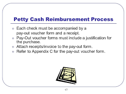 Petty Cash Reimbursement Petty Cash Accounts Procedure Manual Finance Department Budgets