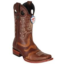men s western square toe pull up boot with saddle vamp leather sole