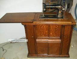 1920 singer sewing machine and parlor cabinet model 66 antique