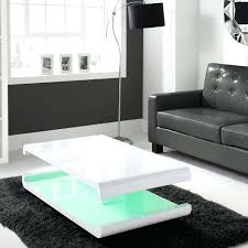 white gloss coffee table high gloss white coffee table with led lighting range modern white gloss