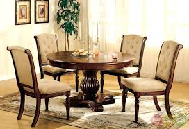 walnut dining table set round wood dining table sets marvelous walnut dining set 7 round wood
