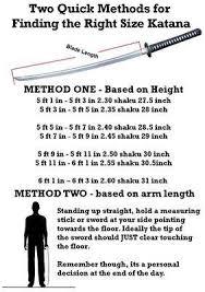 The Right Size Katana