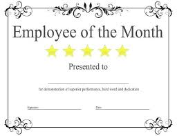 Employee Of The Month Award Template Grupofive Co