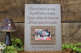 brown country tan rustic memorial picture frame sign those we love don t go