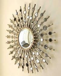 sunburst wall decor sunburst mirror wall decor luxury starburst wall mirror round antiqued silver sunburst wall