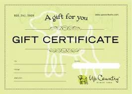 Gift Certificate Designer Gift Certificate Up Country Designer Dog And Cat Collars