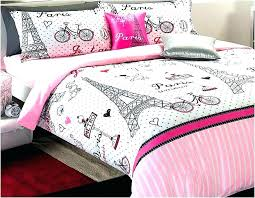twin paris bedding set girls