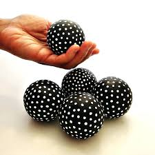 Decorative Sphere Balls Delectable Decorative Orbs And Spheres Black And White Handmade Accent Balls