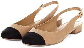 chanel pumps. new look suedette slingback pumps in tan and black (chanel dupes) chanel p