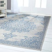 nicole miller medallion gray blue indoor outdoor area rug