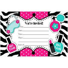 Printable Spa Party Invitations Birthday Invitation Card Printable