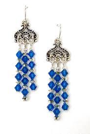 03 04 075 blue crystal chandelier earrings empress capri