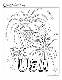 Small Picture Patriotic Free Printable Coloring Page Red White and Blue
