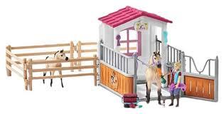 Купить <b>игровой набор Schleich</b> Стойло с арабскими лошадьми и ...