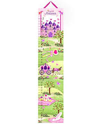Personalized Princess Growth Chart Amazon Com Toad And Lily Canvas Growth Chart Princess