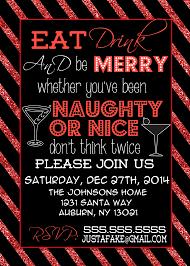 Custom Naughty or Nice Christmas Party by CustomPrintablesNY