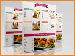 Restaurant Menu Layout Ideas 024 Restaurant Menu Template Modern List Flat Cooking Serving Icons
