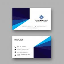 Facebook Logo For Business Card Creative Simple Business Card Design Vector Premium Download