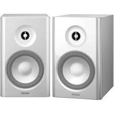 denon speakers. denon sc-n7 2-way bookshelf speakers (white)