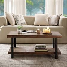 Free shipping on orders over $35. Amazon Com Rustic Nature Coffee Table Aplos Large Retro Wood Slabs Coffee Table With Metal Legs And Storage Shelf For Living Room Bedroom Kitchen Easy Assembly Rectangle Kitchen Dining