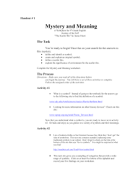 handout mystery and meaning webquest doc